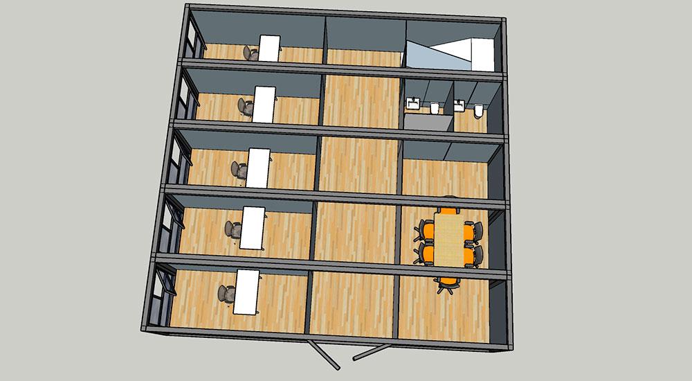 Kiwi Conception réalise des bureaux en containers